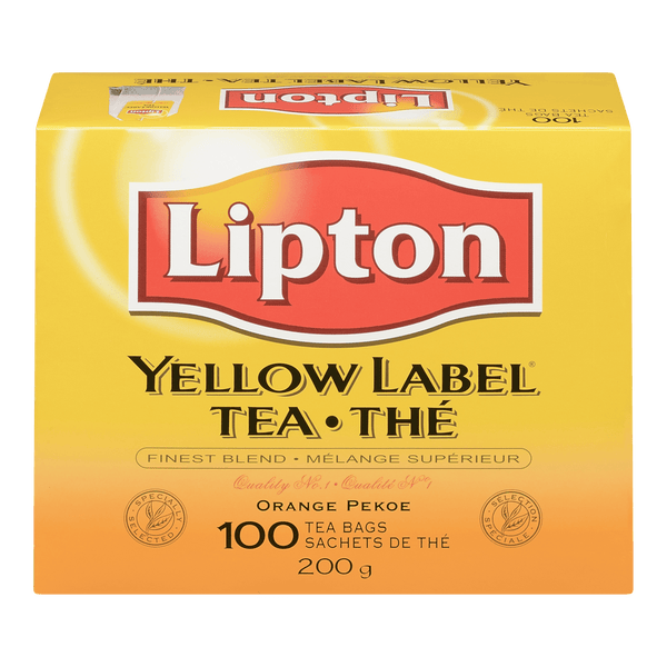 LIPTON THÉ YELLOW LABEL 100 UN