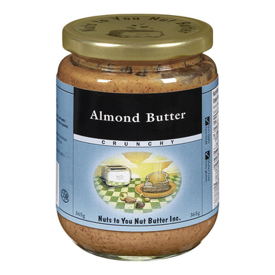 NUTS TO YOU ALMOND BUTTER CRUNCHY 365G