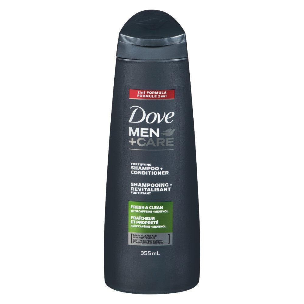 DOVE MEN +CARE SHAMPOO CONDITIONER FORTIFYING FRESH CLEAN 355 ML