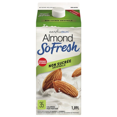 ALMOND FRESH BEVERAGE NO SUGAR ADDED 1.89 L