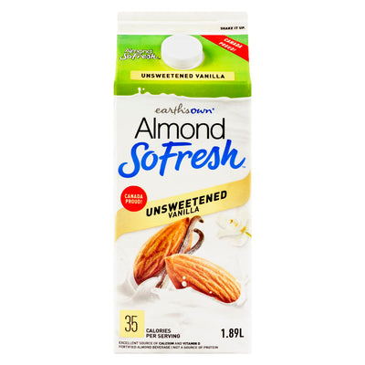 ALMOND FRESH VANILLA BEVERAGE NO SUGAR ADDED 1.89 L