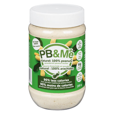 PB&ME NATURAL 100% PEANUTS POWDERED PEANUT BUTTER 200G