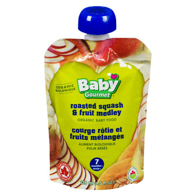 BABY GOURMET BABY FOOD ROASTED SQUASH FRUIT MEDLEY ORGANIC 128 ML