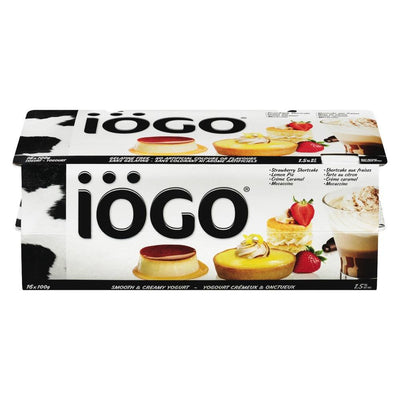 IOGO SHORTCAKE LEMON PIE CREAM CARAMEL MOCA 1.5% YOGURT 16X100 G