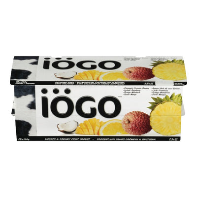 IOGO TROPICAL ASSORTED YOGURT 16X100 G