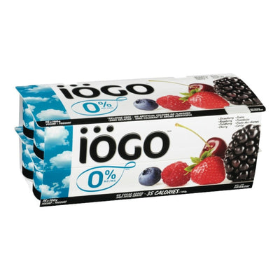 IOGO STRAW RASP CHERRY FIELDBERRY YOGURT 0% FAT 16X100 G
