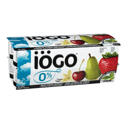 IOGO 0% ASSORTED YOGURT 16X100 G