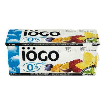 IOGO RASPBERRY/BLUEBERRY/VANILLA/MANGO/PASSION FRUIT 0%... 16X100 G