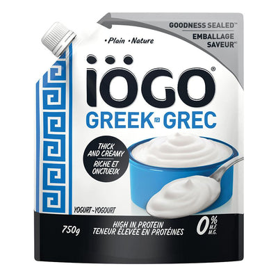 IOGO GREEK YOGURT PLAIN 0% 750 G