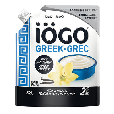 IOGO GREEK YOGURT VANILLA 2% 750 G
