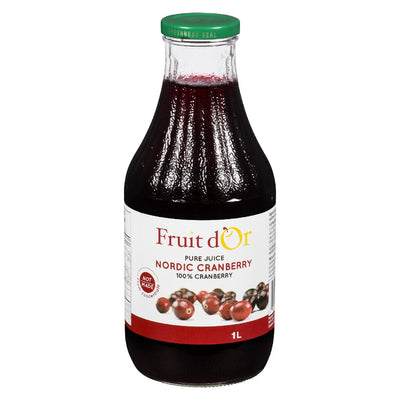 FRUIT D'OR PURE CRANBERRY JUICE 1L