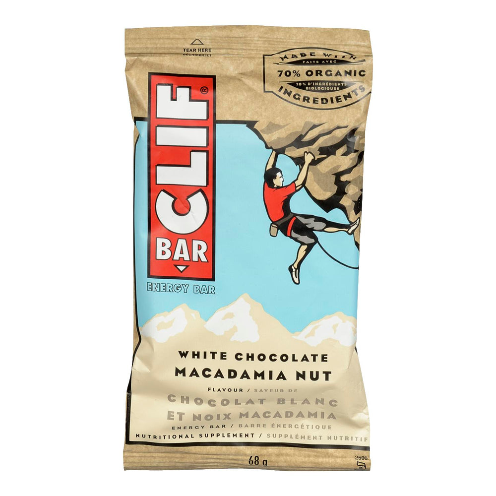 CLIF BAR ENERGY BAR WHITE CHOCOLATE MACADAMIA NUT 68 G