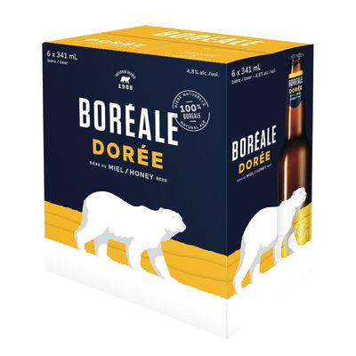 BOREALE DOREE BEER NATURAL HONEY ALE 6 x 341 ML