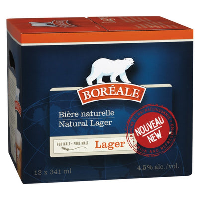 BOREALE LAGER BEER 12X341 ML