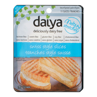 DAIYA CHEESE SLICES DAIRY FREE SWISS 220 G