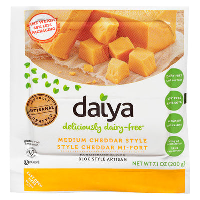 DAIYA CHEESE DAIRY FREE CHEDDAR MEDIUM 200 G