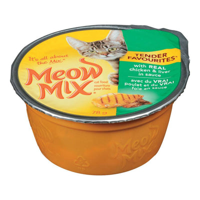 MEOW MIX CAT FOOD CHICKEN LIVER 78 G