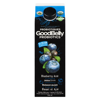 GOODBELLY PROBIOTICS BLUEBERRY ACAI JUICE 946ML