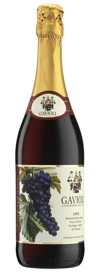 GAVIOLI SPARKLING JUICE RAISIN RED 750 ML