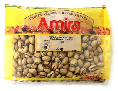 AMIRA CALIFORNIA UNSALTED PISTACHIOS 300 G