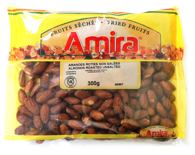AMIRA ROASTED UNSALTED ALMONDS 300 G