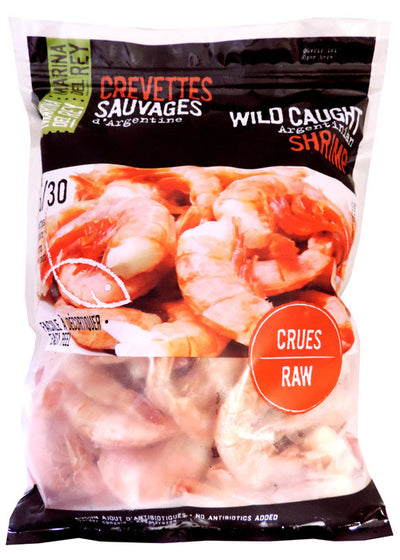 MARINA DEL REY SHRIMPS WILD RAW 300 G