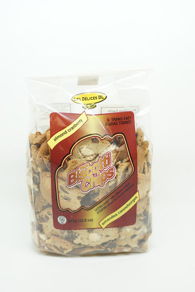 BISCOTTI CHIPS ALMONDS AND CRANBERRY 345 G