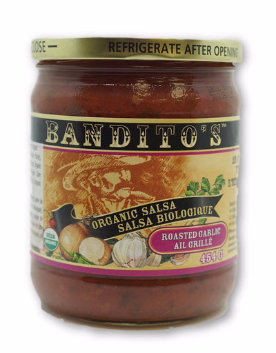 BANDITOS GRILLED GARLIC SALSA BIO 454 G
