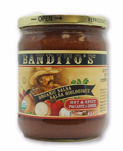 BANDITOS SPICY SALSA BIO 454 G