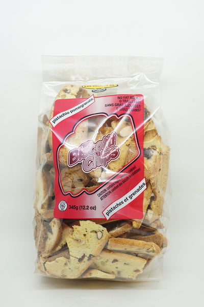 BISCOTTI CHIPS PISTACHIOS AND POMEGRANATE 345 G