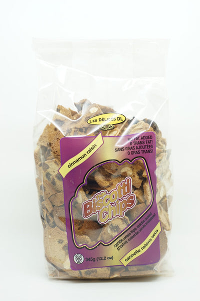 BISCOTTI CHIPS CINNAMON AND RAISINS 345 G