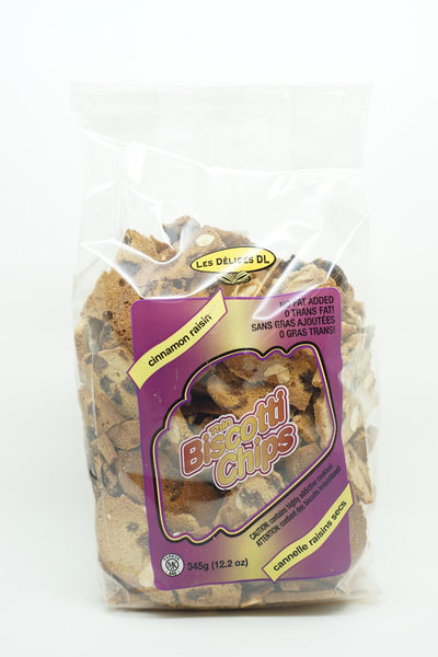 BISCOTTI CHIPS CANNELLE RAISINS SECS 345 G