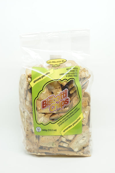 BISCOTTI CHIPS ALMONDS AND PISTACHIOS 345 G