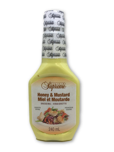 CLUB SUPREME SALAD DRESSING HONEY AND MUSTARD 240 ML