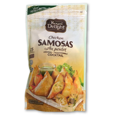 ROYAL DELIGHT SAMOSAS CHICKEN 400 G