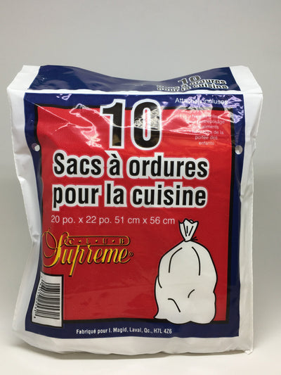 CLUB SUPREME GARBAGE BAGS KITCHEN (10 UNITS)