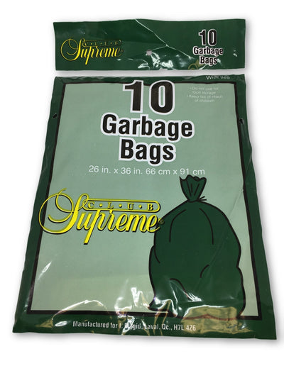 CLUB SUPREME GARBAGE BAGS EXTERIEUR (10 UNITS)