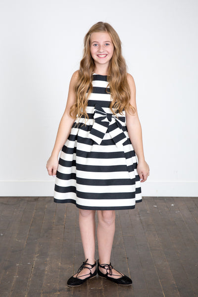 """The Sadie"" Tween Striped Dress"