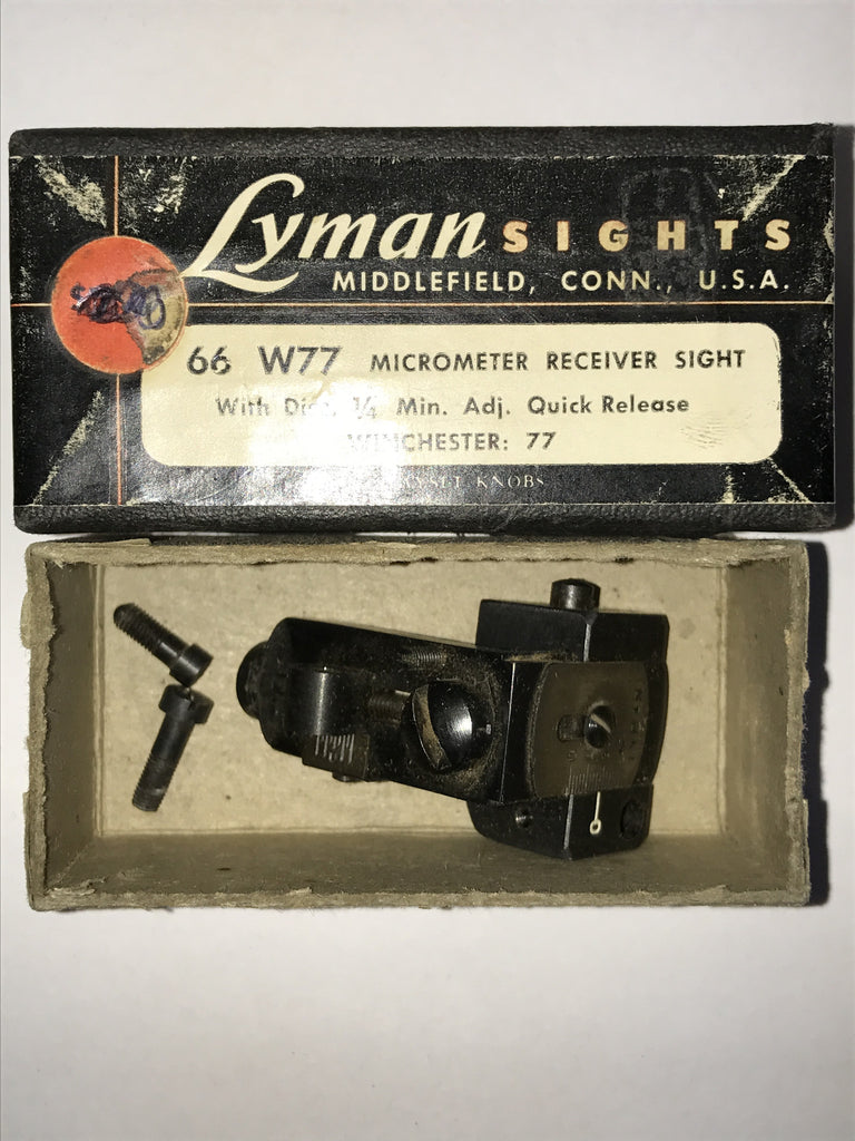 Winchester 77 Lyman 66 receiver sight, used, no aperture
