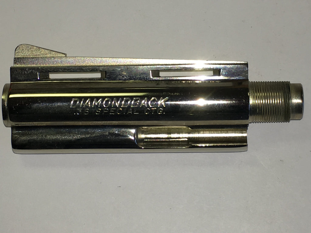 Colt D barrel, Diamondback .38, nickel  #154-56395N