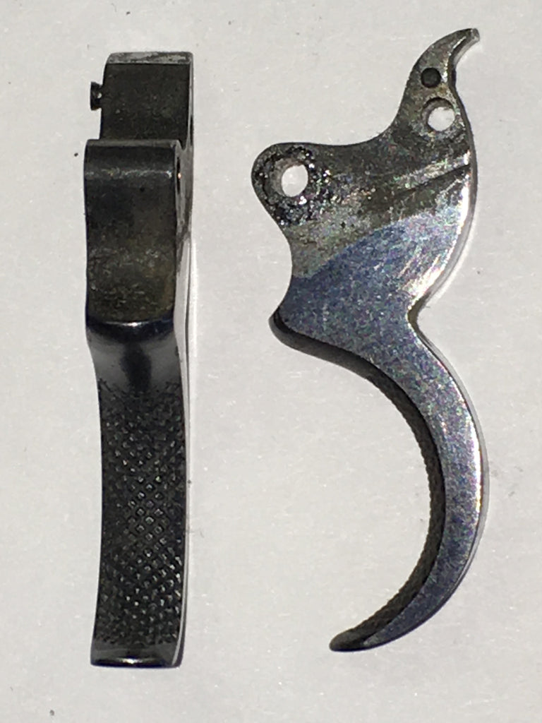 Colt D trigger, early, checkered  #154-21