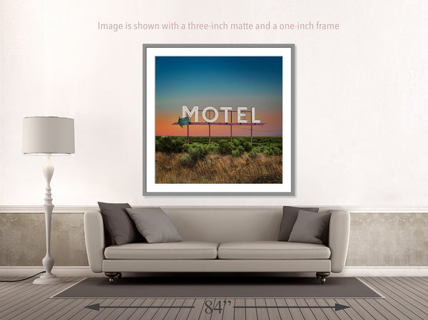 Motel Sign, Coulee WA - Ed Freeman Fine Art