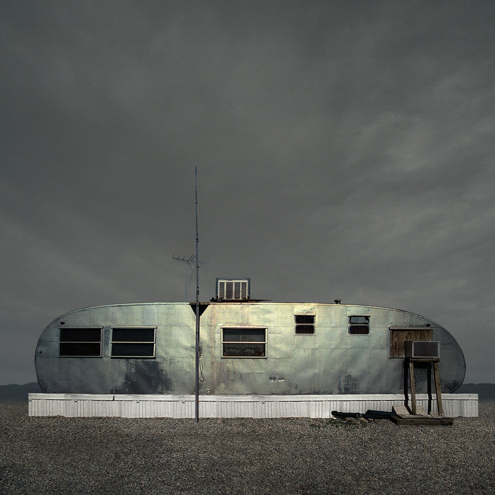 Silver Trailer, Salton Sea, California - Ed Freeman Fine Art