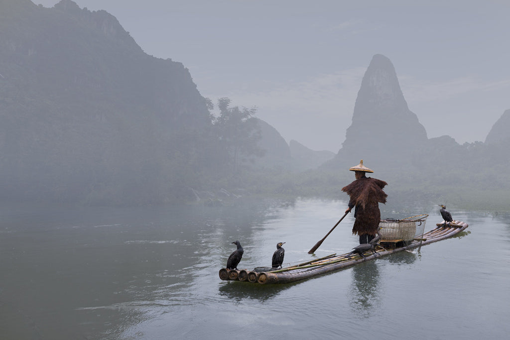 Fisherman, Yangshuo, China - Ed Freeman Fine Art