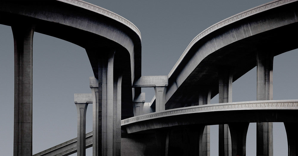 Freeway Interchange, Los Angeles - Ed Freeman Fine Art