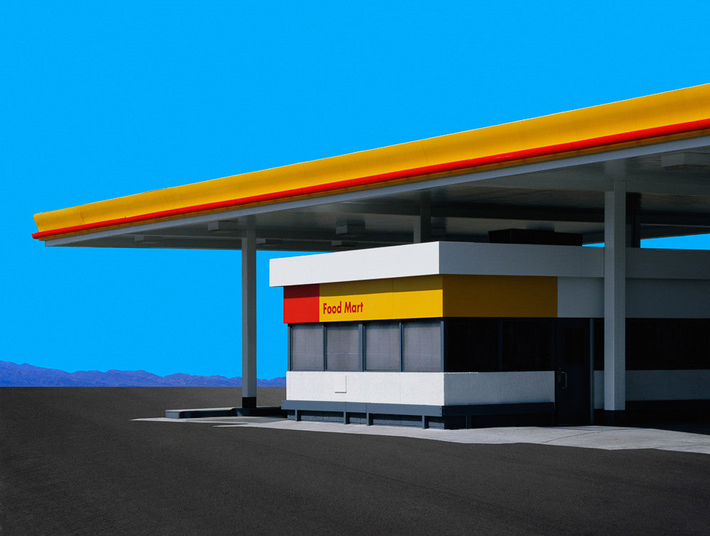 Gas Station, Los Angeles - Ed Freeman Fine Art