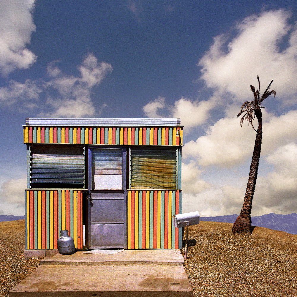 Striped Trailer, Salton Sea, California - Ed Freeman Fine Art