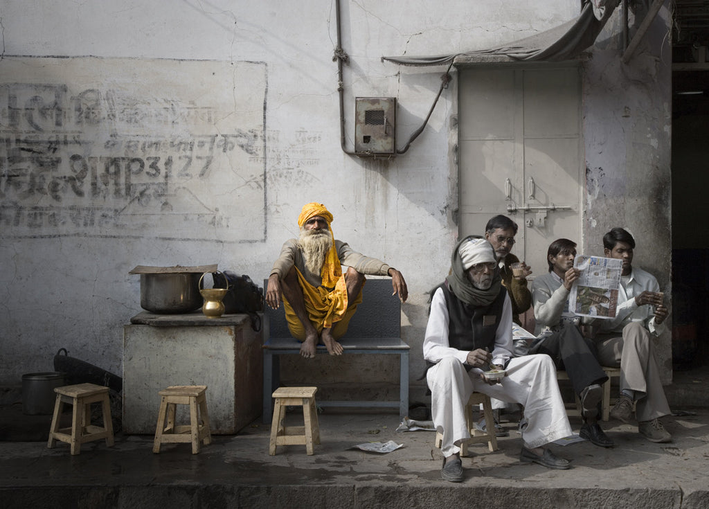 Street Scene, Jaipur, India - Ed Freeman Fine Art