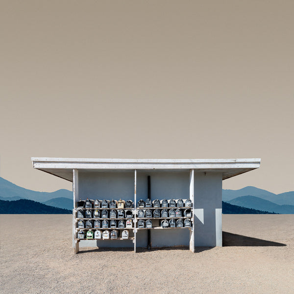 Trailer Park Mailboxes, Brawley, California - Ed Freeman Fine Art