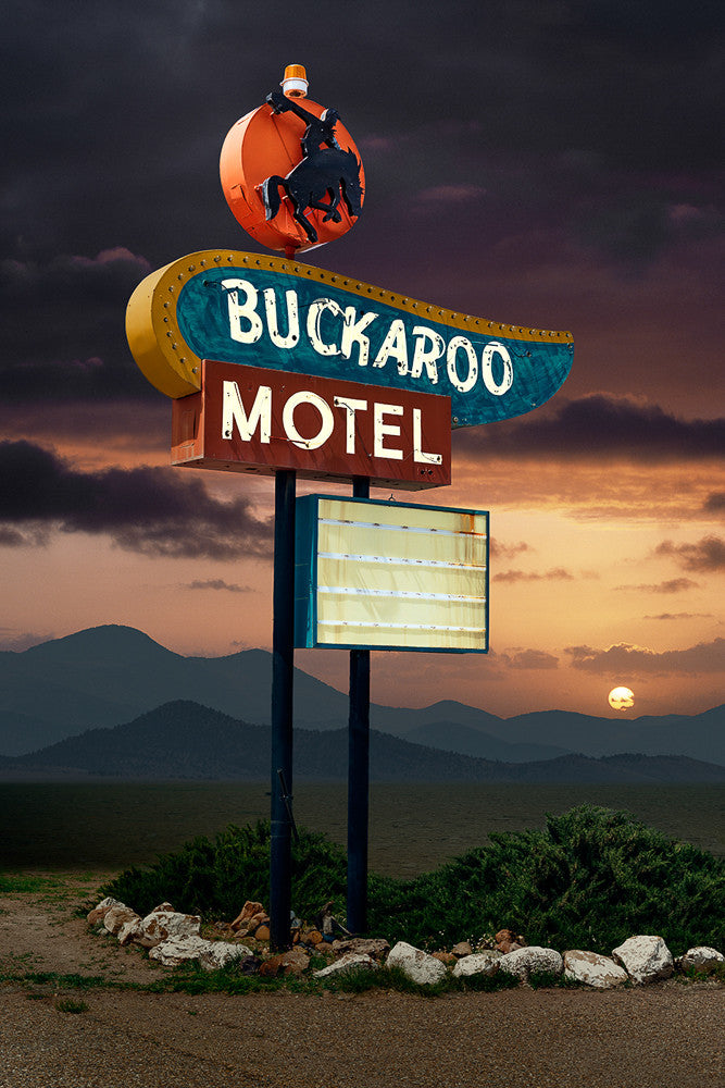 Buckaroo Motel, Tucumcari, New Mexico - Ed Freeman Fine Art